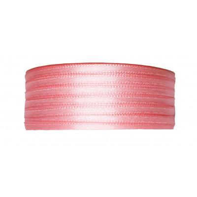 Stuha saténová 3 mm - 602 světle růžová