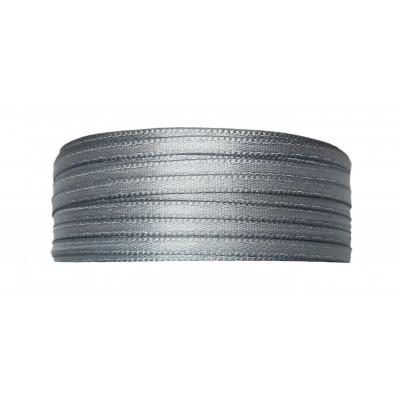 Stuha saténová 3 mm - 844 šedá