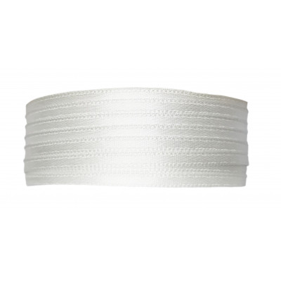 Stuha saténová 3 mm - 101 bílá