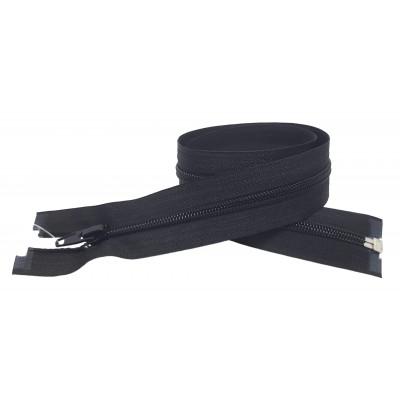 Spirálový zip šíře 6 mm, délka 60 cm - bundový - černá