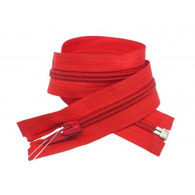 Spirálový zip šíře 5 mm, délka 50 cm - bundový - červená