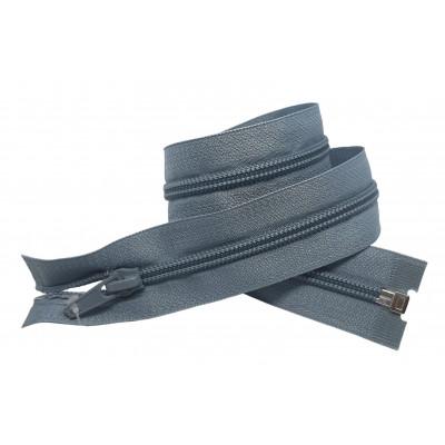 Spirálový zip šíře 5 mm, délka 50 cm - bundový - šedá