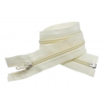 Spirálový zip šíře 5 mm, délka 50 cm - bundový - smetanová