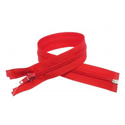 Spirálový zip šíře 5 mm, délka 40 cm - bundový - červená