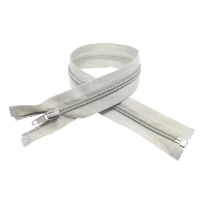Spirálový zip šíře 5 mm, délka 40 cm - bundový - světle šedá
