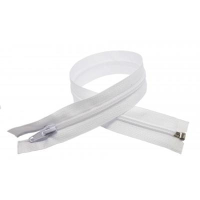 Spirálový zip šíře 5 mm, délka 40 cm - bundový - bílá