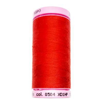 Polyesterová nit Aspo Amann - 500 m - 0504 červená