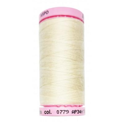 Polyesterová nit Aspo Amann - 500 m - 0779 ecru