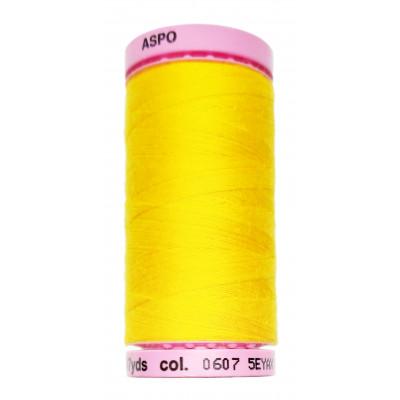 Polyesterová nit Aspo Amann - 500 m - 0607 teplá žlutá