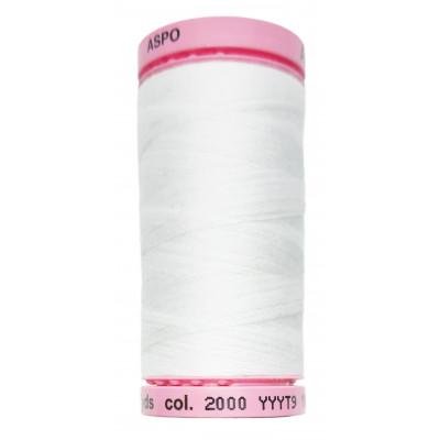 Polyesterová nit Aspo Amann - 500 m - 2000 bílá