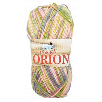 Příze ORION - 19 růžová, zelená, modrá, fialová