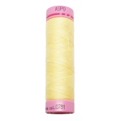 Polyesterová nit Aspo Amann - 100 m - 781 světle žlutá