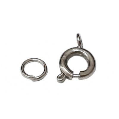 Zapínání na korálky - kruhové - 880 stříbrná