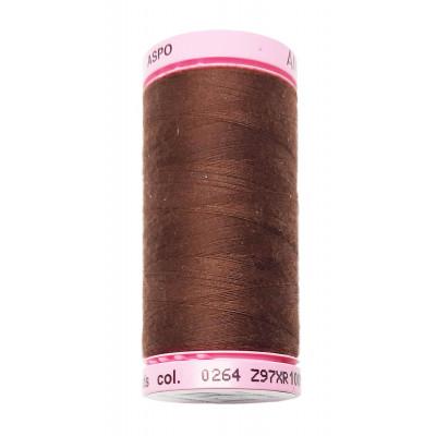 Polyesterová nit Aspo Amann - 500 m - 264 čokoládová