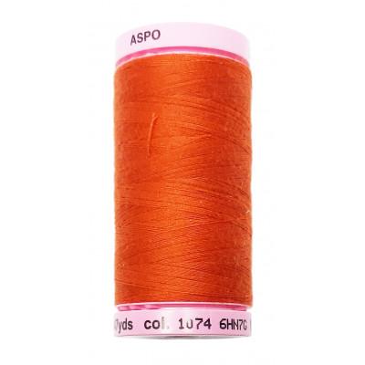 Polyesterová nit Aspo Amann - 500 m - 1074 cihlová červená