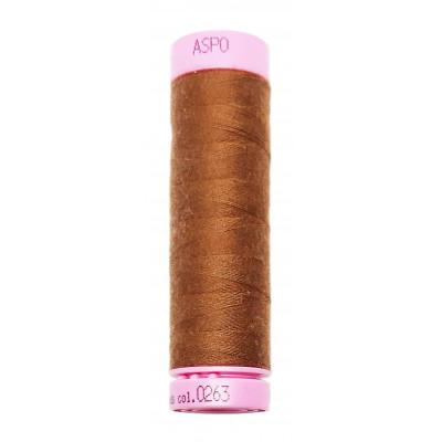 Polyesterová nit Aspo Amann - 100 m - 263 hnědá