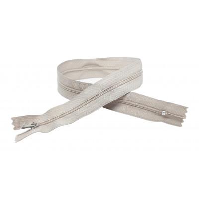Spirálový zip šíře 3 mm, délka 40 cm - pinlock - šedá