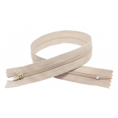 Spirálový zip šíře 3 mm, délka 40 cm - pinlock - béžová