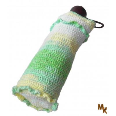 Obal na deštník zelenkavý melír