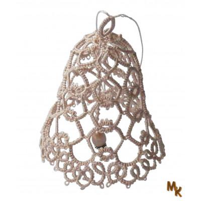 Frivolitkový zvoneček