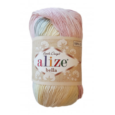Příze ALIZE BELLA BATIK - 6785 růžová žlutá modrá