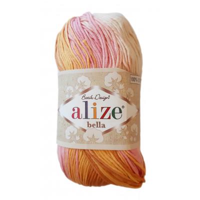 Příze ALIZE BELLA BATIK - 6789 růžová oranžová