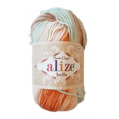Příze ALIZE BELLA BATIK - 7103 růžová oranžová modrá