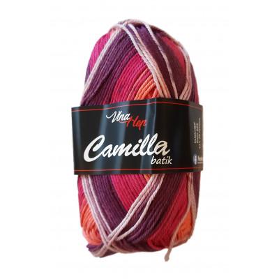 Příze CAMILLA BATIK - 9604 fialová oranžová růžová