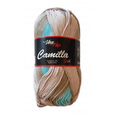 Příze CAMILLA BATIK - 9611 hnědá tyrkysová