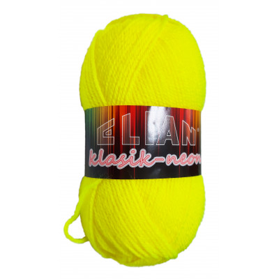 Příze ELIAN KLASIK NEON - 910 žlutá