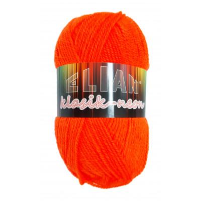 Příze ELIAN KLASIK NEON - 917 oranžová