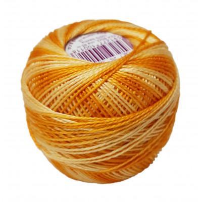 Příze PERLOVKA OMBRÉ - 12152 oranžová+žlutá+světlá žlutá
