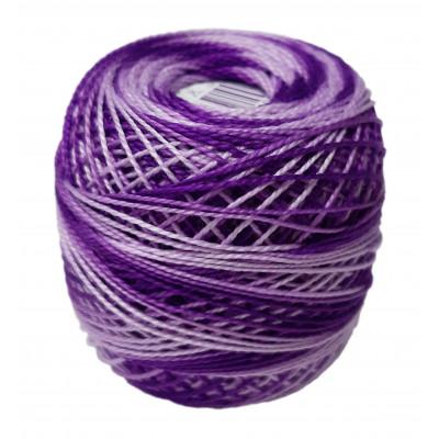 Příze PERLOVKA OMBRÉ - 43272 středně fialová
