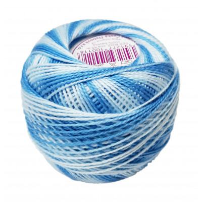 Příze PERLOVKA OMBRÉ - 56152 egyptská modrá+světlá modrá