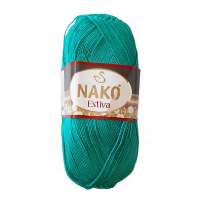 Příze NAKO ESTIVA - 10873 tyrkysově zelená